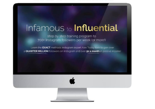 Alex Tooby – Infamous to Influential - Full course $20
