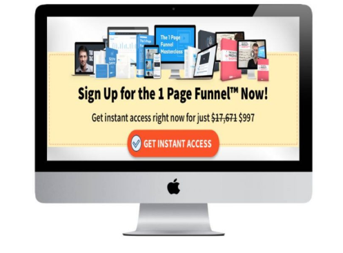 Brian Moran – 1-Page Funnel Master Class - Full course $20 amazing price