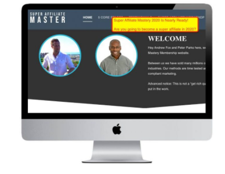 Peter Parks & Andrew Fox (SuperAffiliateMaster) – The Ultimate Super Affiliate Mastery 2020