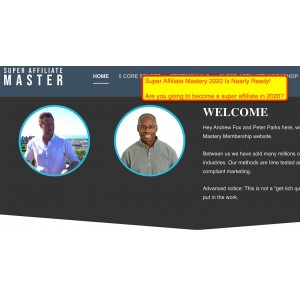 [Download] Peter Parks & Andrew Fox – The Ultimate Super Affiliate Mastery 2020