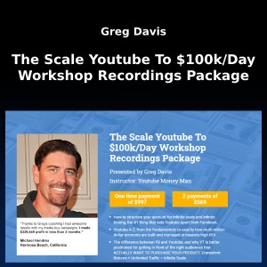 Greg Davis – The Scale Youtube To $100k/Day